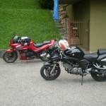 La mia moto e quella di Alex
