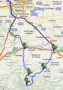 Mappa Oltrepo Penice SS45