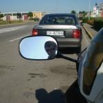 Io nello specchio della mia moto