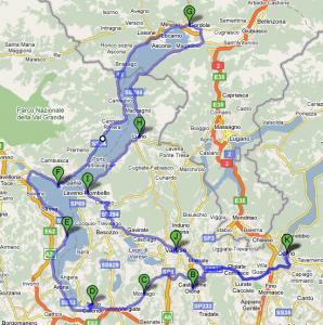 Mappa Lago Maggiore
