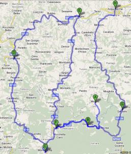 Mappa Basso Piemonte e Liguria Domenica