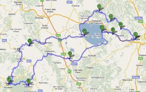Umbria primo giorno mappa