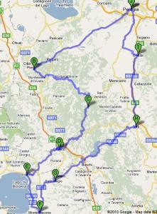 Mappa Umbria secondo giorno