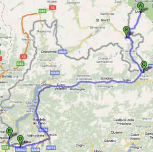 Mappa Gavia e Stelvio secondo giorno